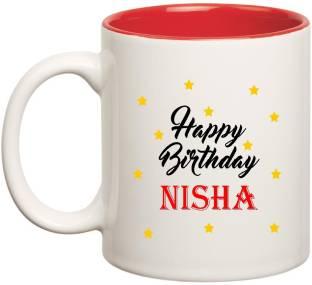 Posterchacha Nisha Name Happy Birthday Gift Ceramic Mug Price In