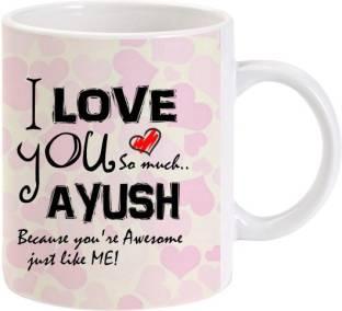 Muggies Magic Ayush Heart Name Design 11oz Ceramic Mug Price In