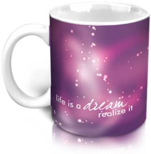 Hot Muggs Life is a Dream - Message Ceramic Mug