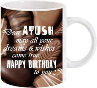 Emerald Happy Birthday Ayush Ceramic Mug Price In India Buy