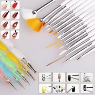 Online shopping india buy mobiles electronics appliances foolzy 20pcs nail art design dotting painting drawing uv polish brush pen manicure pedicure set kit prinsesfo Gallery