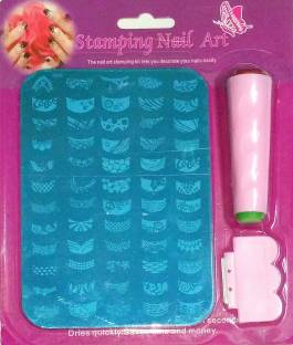Kawachi salon express nail art stamping kit price in india buy royalifestyle nail art stamping kit prinsesfo Images