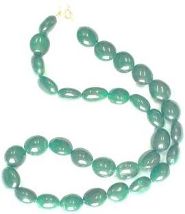 Nornament Nornament Natural shaded green emareld strings