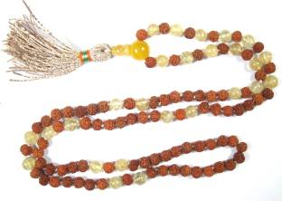 Indiatrendzs Mala Agate Crystal Necklace