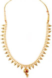 696ac84ab0861 Sushito Fancy Tarbuj Moti Haar Gold-plated Plated Alloy Necklace ...
