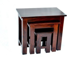 Ringabell Solid Wood Nesting Table