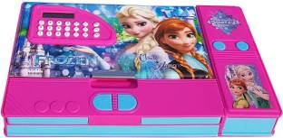 Shree Krishna Handicrafts And Gallery Frozen Movie Character Art Plastic Pencil Box (Set of 1, Multi-color) Art Plastic Pencil Box