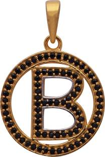 stylish teens stunning alphabet b letter locket with chain for men