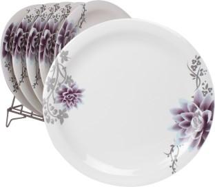 White Gold Purple Beauty Plate Set  sc 1 st  Flipkart & Cello Platino Dinner Plate Pack of 6 Dinner Set Price in India - Buy ...