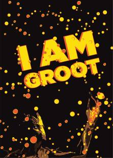 I Am Groot Guardians Of The Galaxy Poster Paper Print