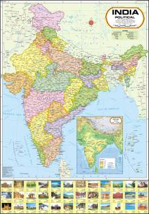 World Political Map Paper Print - Maps posters in India - Buy art ...