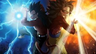 Dragon Ball GT Stickers Goku and Vegeta Super Saiyan 4