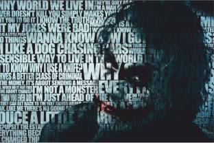 Flipkart buy myhome posters online at best prices in india batman the joker quotes paper print gumiabroncs Image collections