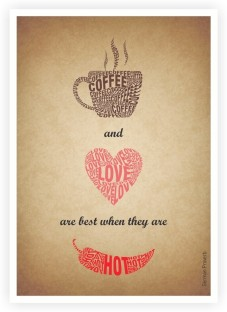 Coffee Cup With Heart Shaped Art Print Home Decor Wall Art Poster F