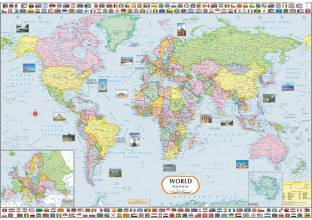World map of stereotypes paper print maps posters in india buy world political map paper print gumiabroncs Image collections
