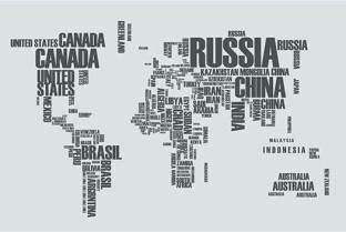 Quotes on world map fine art print painting mantra posters typographic world map grey fine art print gumiabroncs Image collections