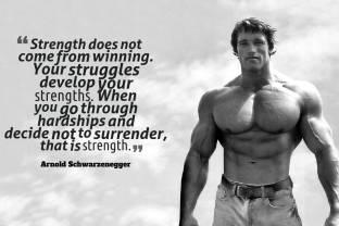 Athah Arnold Schwarzenegger Motivational Quote Paper Print