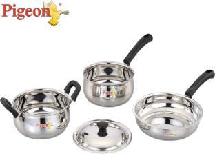 Pigeon Cookware Kadhai, Pan Set