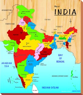 Little Genius Map India Large Map India Large shop for