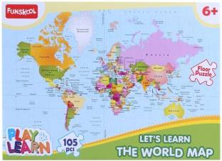 Funskool world map puzzles educational game world map puzzles funskool world map puzzles educational game gumiabroncs Images