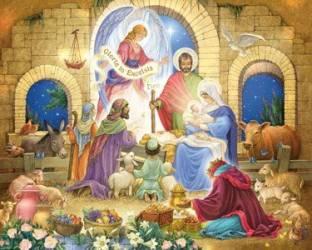 Melissa Doug Classic Wooden Christmas Nativity Set With