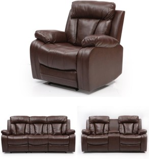 Evok Bonded Leather Manual Swivel Recliners