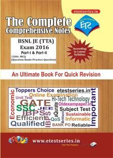 BSNL JE (TTA) Exam 2016 Reference Book  (Paperback, Etestseries Expert Team, ETS Expert Teachers)