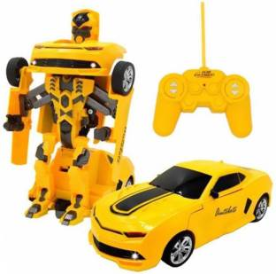 a r enterprises rechargeable rc bumble bee transformer robot toy for kids