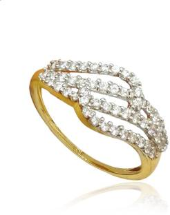 Kalyan Jewellers Light weight Fancy 18kt Diamond Yellow Gold