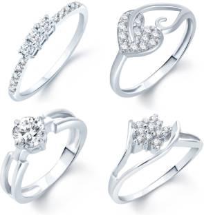 Sukkhi Alloy Cubic Zirconia Rhodium Ring