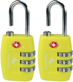 Texas USA TSA Lock-Mandatory for US Customs - Yellow Set of 2 Safety Lock