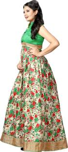 The Fashion World Silk Floral Print Semi-stitched Salwar Suit Dupatta Material