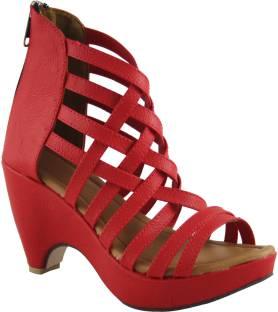 Cute Fashion Women Red, Beige Heels