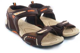 Lotto Men Brown/Beige/Orange Sports Sandals