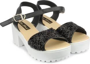 Do Bhai Women Black Heels