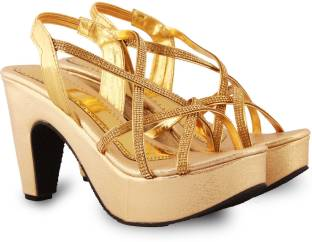 Anand Archies Women Gold Heels