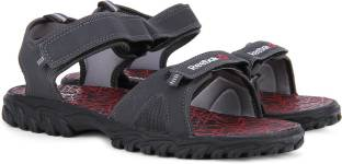 Reebok Men COAL/FLAT GREY/BLACK Sports Sandals