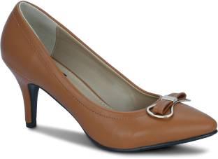 Get Glamr Women Tan Heels