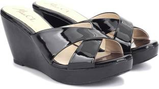 Miss CL by Carlton London Women Black Wedges