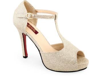 Shuz Touch Women Golden Heels