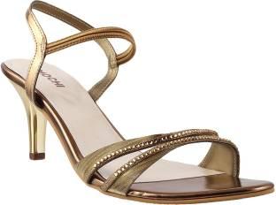 Mochi Women 28,Antiq-Gold Heels