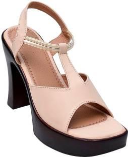 Glitzy Galz Women Cream Heels