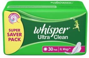 Whisper Ultra Clean Wings XL-30 Sanitary Pad
