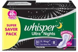 Whisper Ultra Nights Extra Heavy Flow Sanitary Pad
