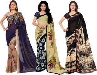 Anand Sarees Printed Fashion Georgette Saree