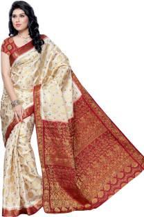 Mimosa Woven Kanjivaram Handloom Art Silk Sari
