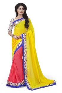 AC Creation Solid Bollywood Georgette Sari