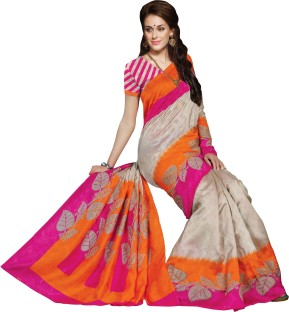 Flipkart Bhavi Printed Art Silk Saree