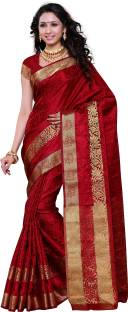 Mimosa Woven Kanjivaram Art Silk Sari
