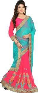 Jiya Self Design, Embroidered, Embellished Fashion Georgette, Jacquard Sari